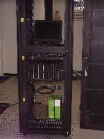 19. Bladecenter front view with storage unit at bottom