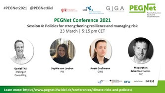 AGRICA project and methods presented at PEGNet conference on climate risks and policies