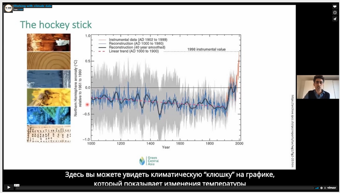 """""""An introduction to Climate Data"""" – video presentation by Dr. Bijan Fallah during the First Central Asian Conference on Climate Journalism"""