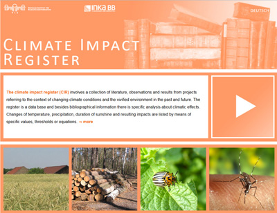 image website climate impact register