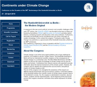 """International Conference """"Continents under Climate Change"""" goes on-line"""