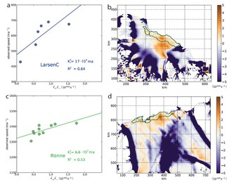 Ice loss in the Antarctic: Researchers find calving law