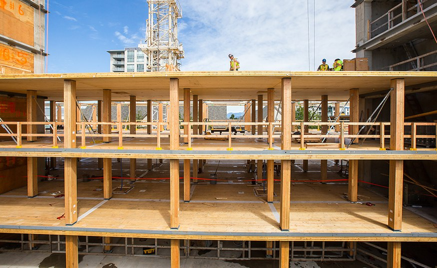 Buildings can become a global CO2 sink if made out of wood instead of cement and steel