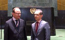 Edenhofer and Foreign Minister Maas visit the United Nations