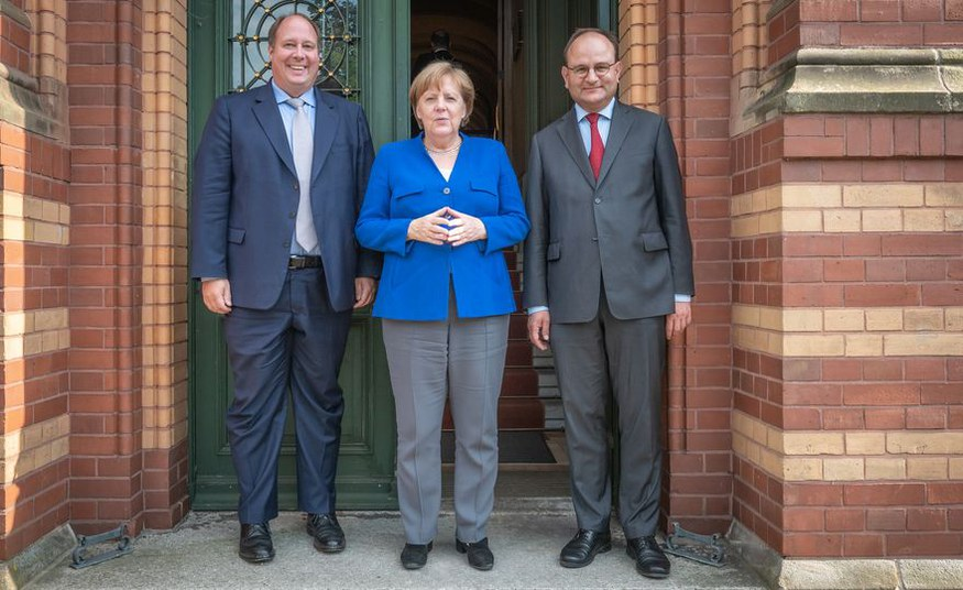 CO2-pricing: German chancellor Angela Merkel visited PIK for a scientific briefing