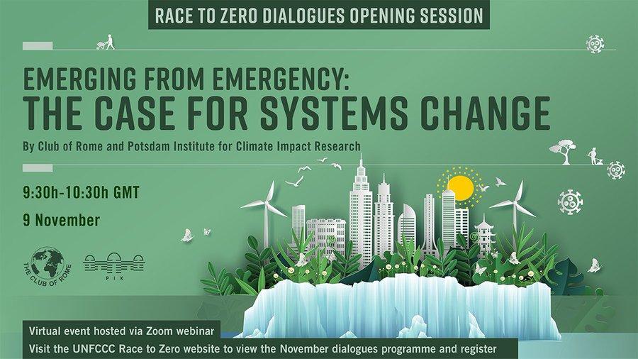 """""""System Transformation"""": #RaceToZero UNFCCC pre-COP26 event"""