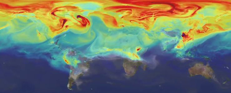 Photo Screenshot of visualization A Year in the life of Earth's CO2 class=