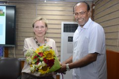 President of the Indian Meteorological Society Dr. Sushil Kumar Dash with  Prof. Dr. Elena Surovyatkina